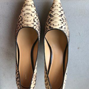 Like New Nine West Snake Skin Heels